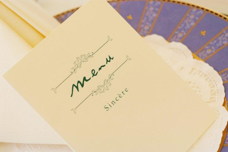 結婚式のメニュー表を手作りしたい!5つの作り方アイディア