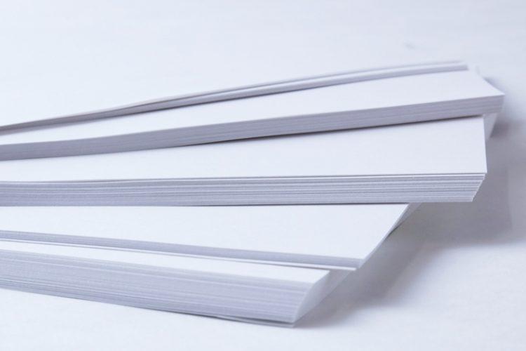 メニュー表の用紙
