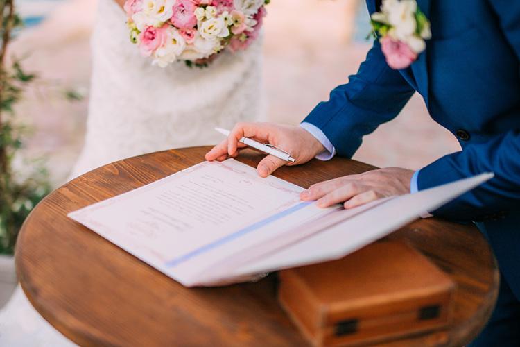 紙で作る結婚証明書