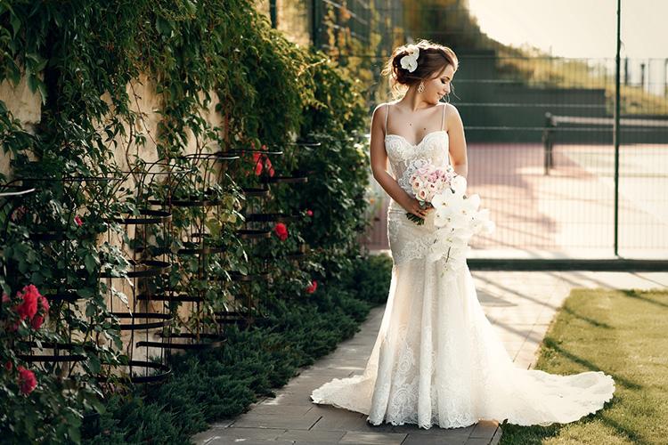 マーメイドラインのウエディングドレス