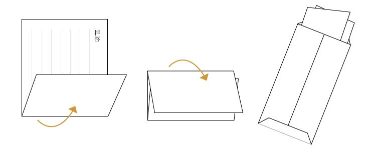 三つ折りのやり方