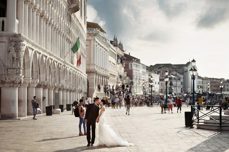 イタリアでフォトウエディング