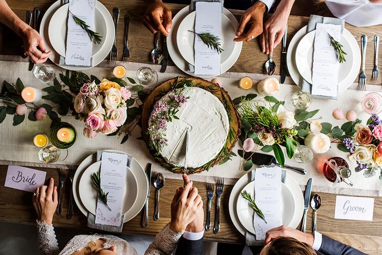 カジュアルな結婚パーティー