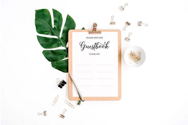 結婚式の芳名帳(ゲストブック)とは?ほんとに必要?種類と選び方