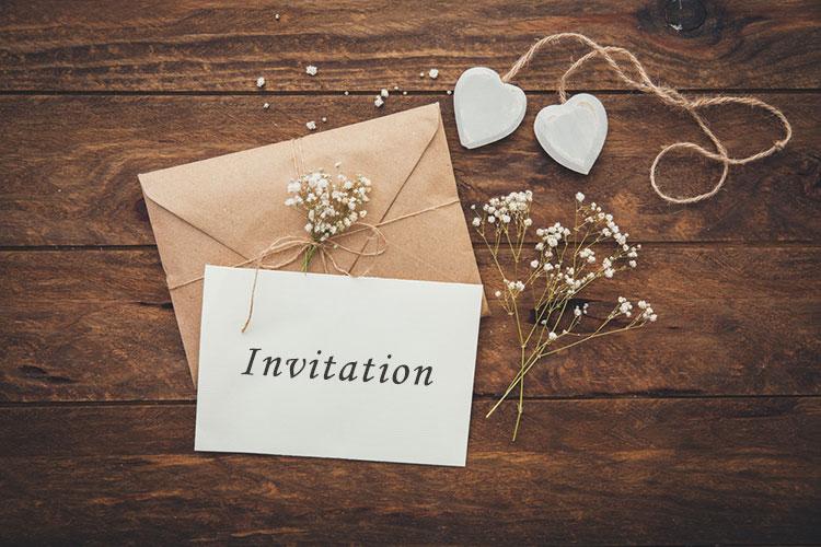 帰国後パーティーの招待状