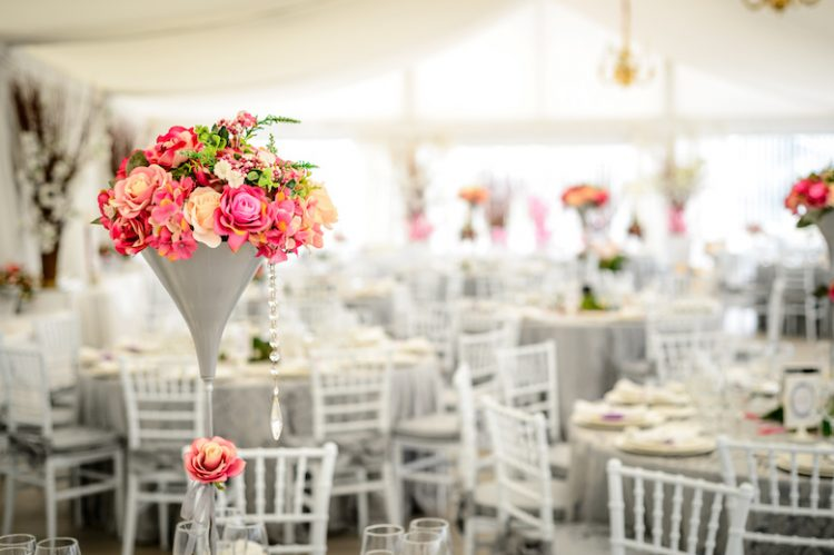 Decoración salon de boda