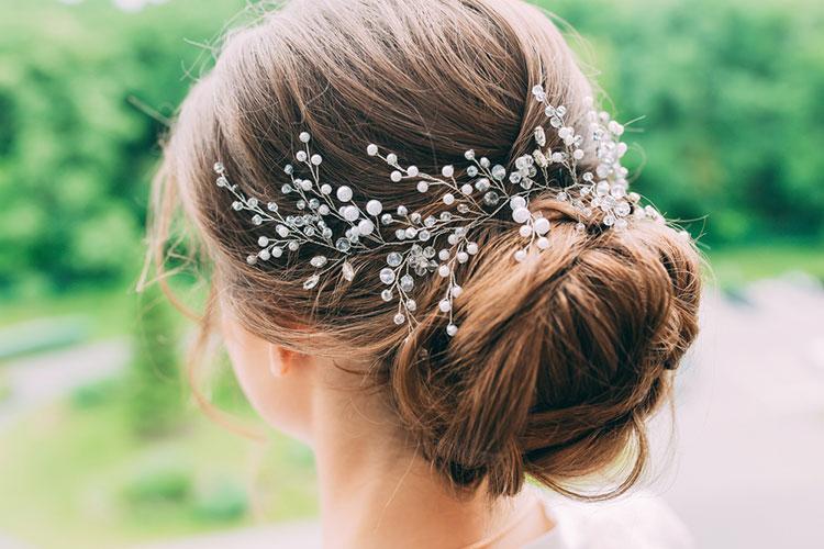 シンプルなヘッドドレス