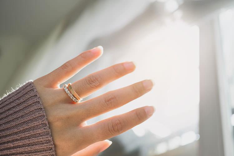 エタニティの婚約指輪と結婚指輪の重ね付け