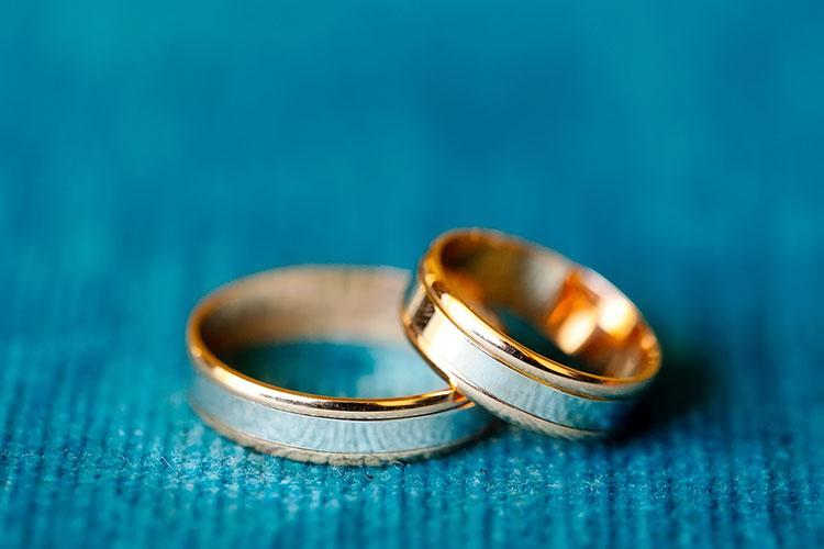 コンビネーションの結婚指輪