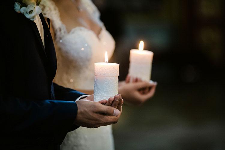 蝋燭をつかった結婚式演出