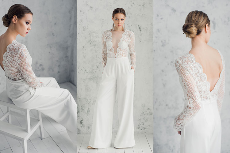 ウェディングドレスのパンツスタイル