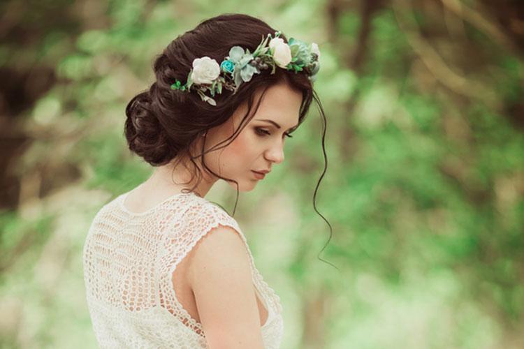 花嫁さんのヘッドドレス(髪飾り)
