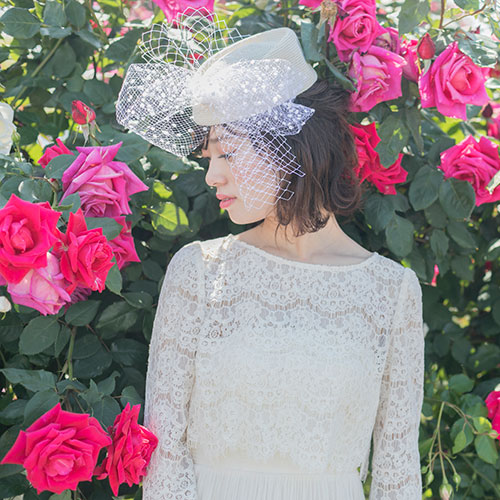トーク帽のヘッドドレス