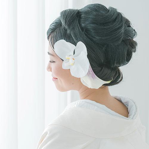 和装に合わせるヘッドドレス