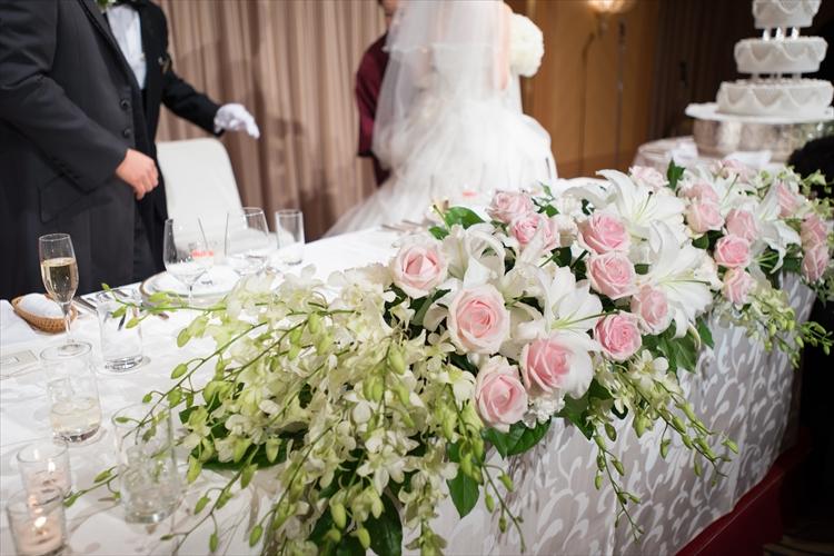 高砂テーブルの装花