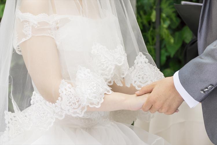 結婚式の花嫁花婿