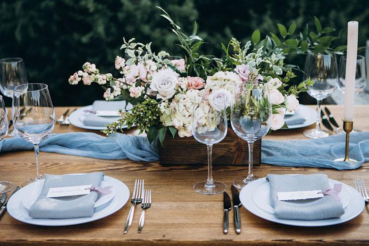 結婚式のテーマカラー「青」