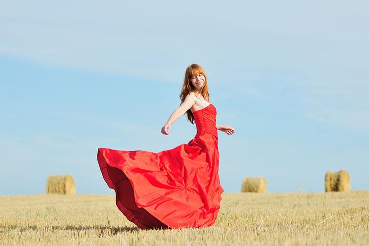 カラードレス(赤)