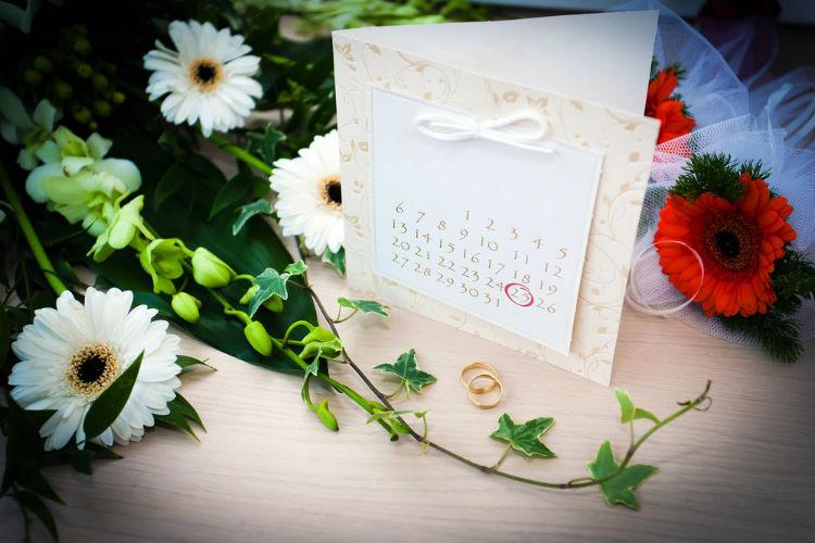 結婚式のスケジュール