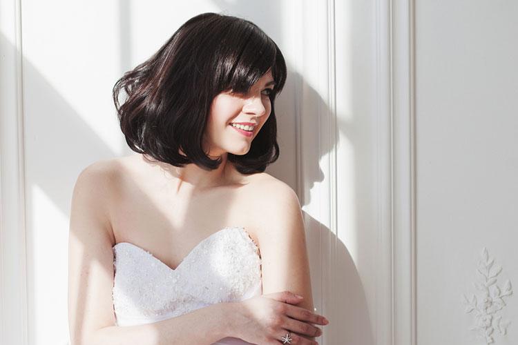 結婚式の髪型は「ボブ」がオシャレ!海外花嫁のボブヘアまとめ