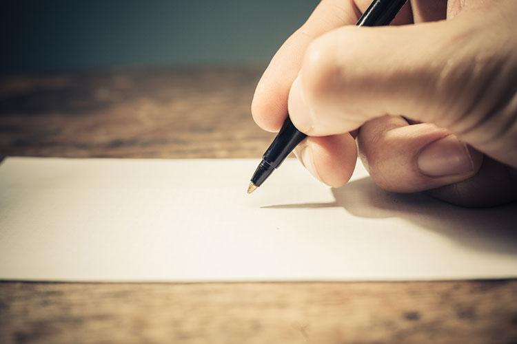 新郎の手紙を書こう