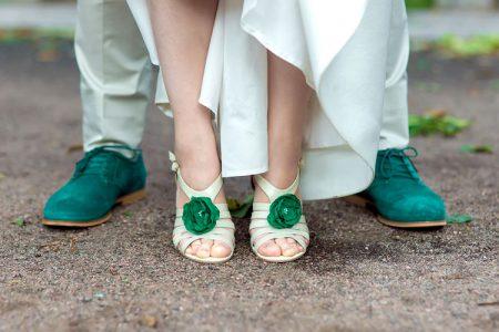 緑色がテーマカラーの結婚式