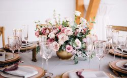 バラを使ったテーブルコーデ