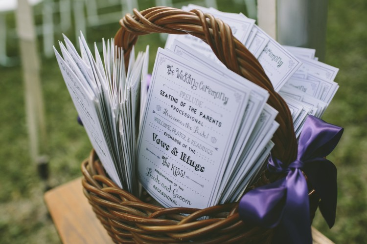 結婚式のプログラム表