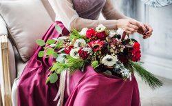 大人っぽいピンクのカラードレス