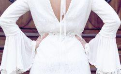 ウェディングドレス(ベルスリーブ)