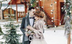 冬挙式のウェディングドレス