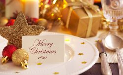 クリスマスウェディングの席札