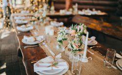 披露宴の海外風ゲストテーブル