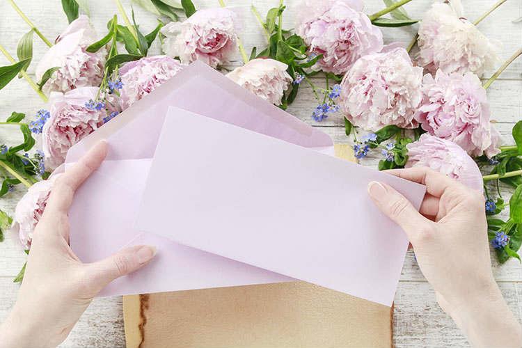 ピンクの封筒