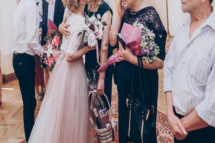 両親へ花束贈呈演出