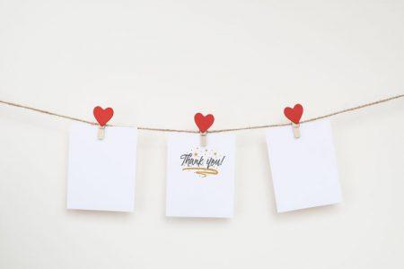 結婚式のサンクスカード
