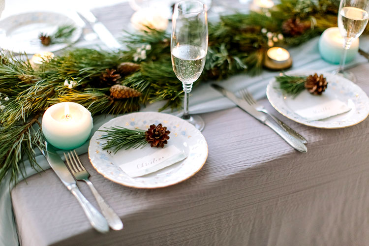 【冬挙式】冬らしいテーブルコーディネートアイディア