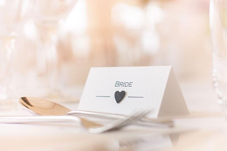 結婚式の席札(二つ折り)