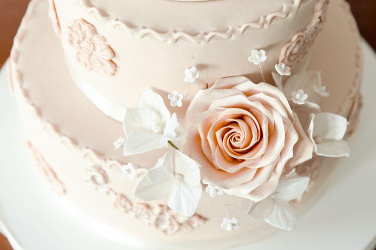 【春挙式】パステルカラー×お花モチーフのウェディングケーキデザイン