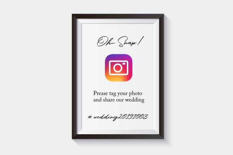 海外の『インスタサイン』をマネしたい!みんなで結婚式写真をシェアする方法