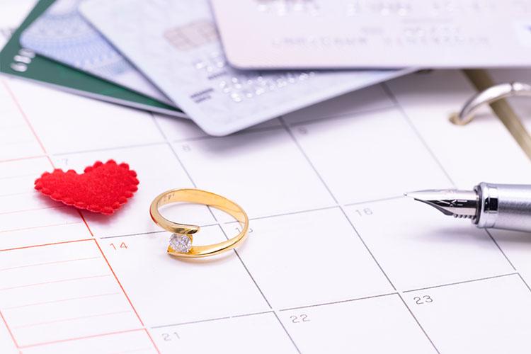 カレンダーと指輪