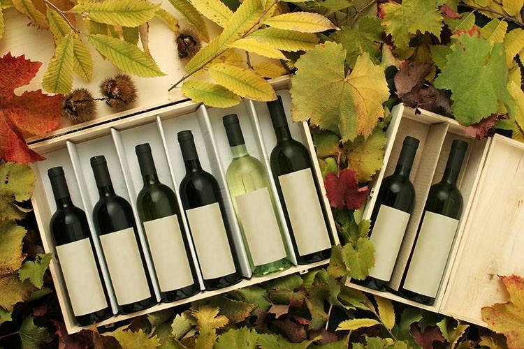 ワインの入った箱