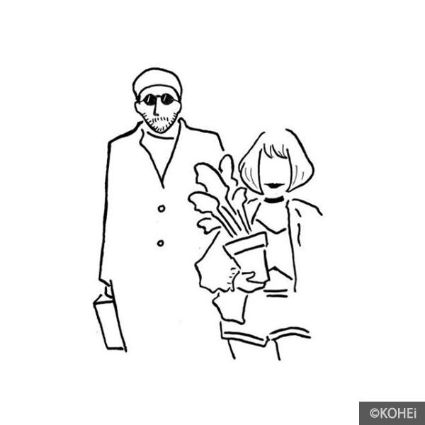 ウェルカムボードの似顔絵イラスト(KOHEiさん)