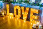 結婚式のマーキーライト