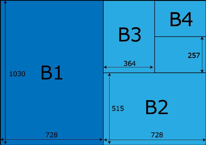 ウェルカムボードのサイズ(B版)