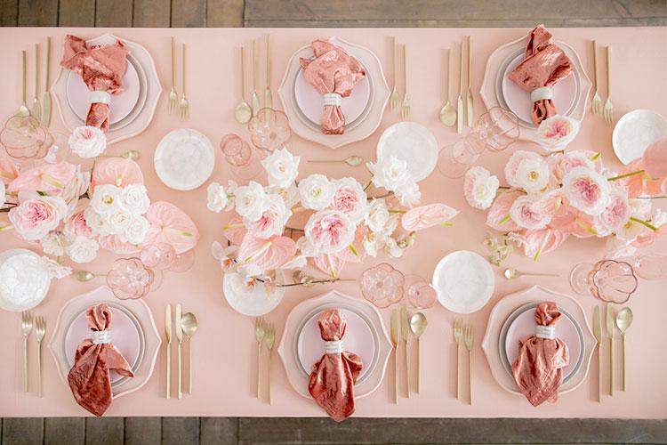 【結婚式】ピンクのテーブルコーディネート集【テーマカラー】