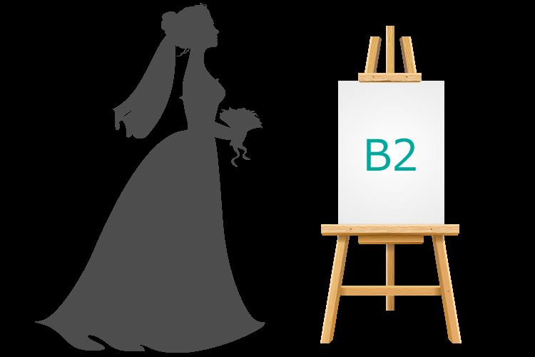 ウェルカムボードのサイズ(B2)