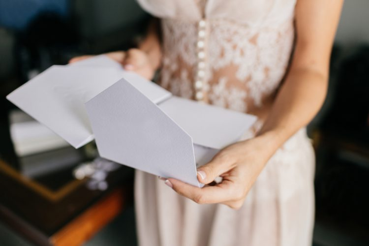 花嫁と手紙