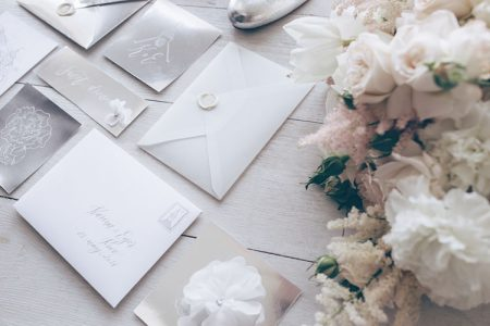 結婚式の招待状(トレーシングペーパー)