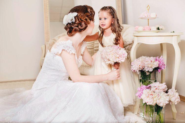 花嫁と子供